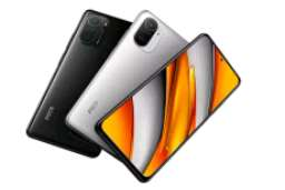 مشخصات فنی پوکو اف 3 شیائومی  XIAOMI POCO F3  عرضه  معرفی 22 مارس 2021وضعیتموجود. عرضه شده در 22 مارس 2021  نمایشگر  نوع AMOLED - روشنایی 900 نیت (امکان افزایش تا 1300 نیت)  بدنه  جلو شیشهای (گوریلا گلس 5)، پشت شیشهای (گوریلا گلس 5)  پلتفرم اندروید 11، MIUI 12 برای POCO تراشهQualcomm SM8250-AC Snapdragon 870 5G (هفت نانو متری)  حافظه  درگاه حافظه   خیر  حافظه داخلی128 گیگابایت با 6 گیگابایت رم، 128 گیگابایت با 8 گیگابایت رم، 256 گیگابایت با 8 گیگابایت رم نوع حافظهUFS  3.1  دوربین  اصلی48 مگاپیکسل (لنز واید  8 مگاپیکسل (لنز اولترا واید   5 مگاپیکسل (لنز ماکرو)   سلفی20 مگاپیکسل  صدا جک ۳.۵ میلی متری. دارد  باتری  باتری غیرقابل تعویض لیتیوم پلیمری با ظرفیت  4520 میلی آمپر ساعت   سرعت شارژ- شارژ سریع 33 وات  - 100 درصد در 52 دقیقه  قابلیتها  حسگرها حسگر اثرانگشت (کنار گوشی)، شتاب سنج، ژیروسکوپ، سنسور مجاورت، قطبنما، طیف رنگ  شبکه  فناوریGSM / HSPA / LTE / 5G   رادیو    خیر  متفرقه  رنگهاسفید، مشکی، آبی   حدود قیمت در زمان عرضه حدود 350 یورو   👑نوربرت موبایل 👑 @modmobail