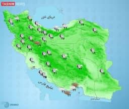 آسمان آفتابی در بیشتر مناطق کشور  ☀️ آسمان بیشتر نقاط کشور آفتابی خواهد بود.  🌦 در مازندران، گلستان و برخی نقاط خراسان شمالی، رگبار باران گاهی همراه با رعد و برق و وزش باد پیشبینی میشود.  😷 در شرق خراسان جنوبی و شمال سیستان و بلوچستان در منطقه زابل خیزش گرد و خاک و کاهش کیفیت هوا انتظار میرود.  ☀️ آسمان تهران صاف گاهی همراه با وزش باد است.  @TasnimNews