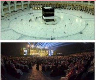 🔺 کرونا در مکه مکرمه، و همان شب، کنسرت در جده. ( قابل توجه طرفداران #اسلام_آمریکایی در ایران ).    #توئیت 👈 حسن رحیم پور   ✌️جنبش مردمی حلالزادهها  📡  @Halalzadeha