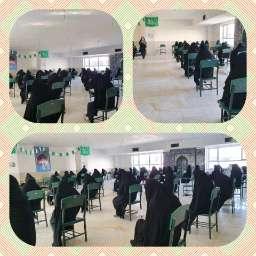 #هماکنون برگزاری آزمون ورودی پایه دهم با رعایت پروتکل های اجتماعی #دبیرستان_شهید_مطهری