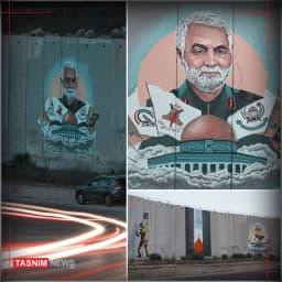 دیوارنگاره شهید قدس نقطه مرزی فلسطین و لبنان @TasnimNews